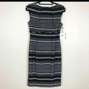 NWT Calvin Klein Striped Work Dress